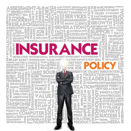 Business word cloud for business and insurance concept, policy Stock Photo - 13774069