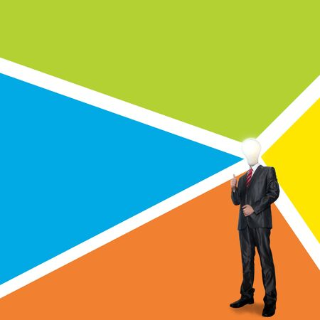 Business man with color background photo