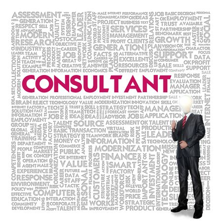 Business word cloud for business concept, Consultant Stock Photo - 13774063