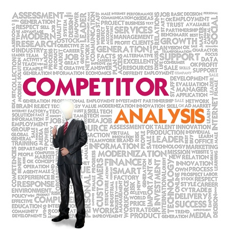 Business word cloud for business concept, Competitor analysis Stock Photo - 13774056