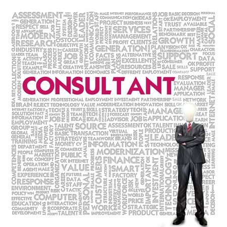 Business word cloud for business concept, Consultant photo