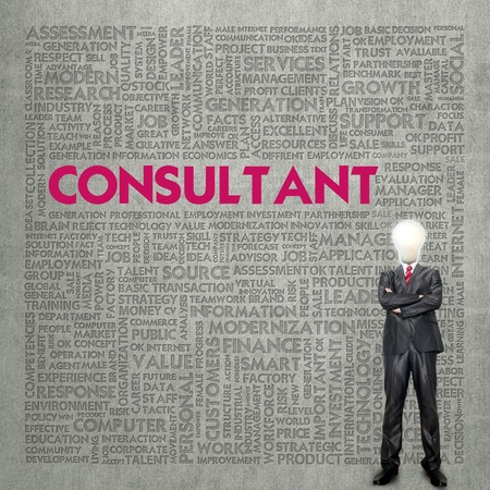 Business word cloud for business concept, Consultant Stock Photo - 13774108