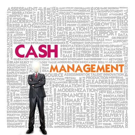 Business word cloud for business concept, Cash management photo
