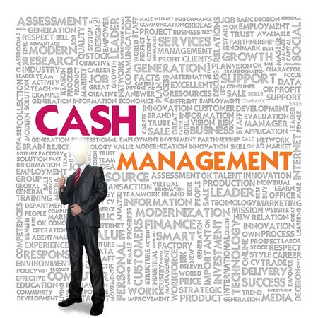 Business word cloud for business concept, Cash management photo