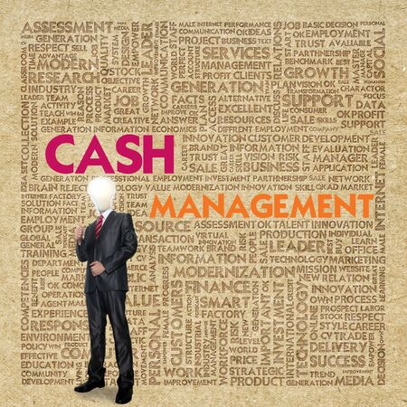 Business word cloud for business concept, Cash management Stock Photo - 13774107