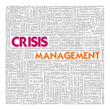 Business word cloud for business concept, Crisis management Stock Photo - 13774052