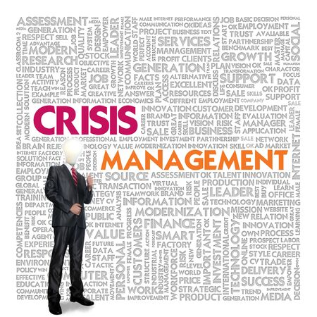 crisis management: Business word cloud for business concept, Crisis management