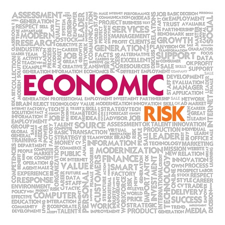 credit risk: Business word cloud for business concept, Economic RIsk Stock Photo