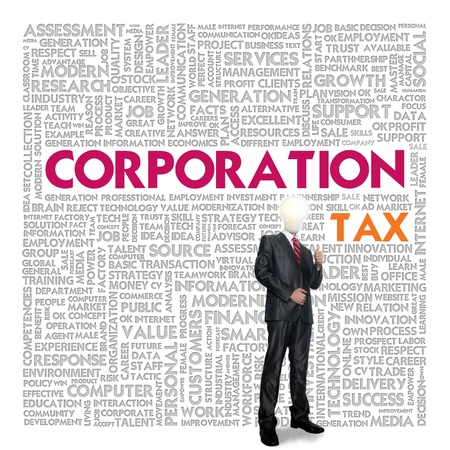 exemptions: Business word cloud for business concept, TAX