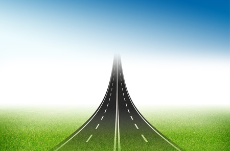 Road to the target for business concept Stock Photo - 13773985