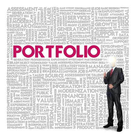 Business word cloud for business concept, portfolio photo