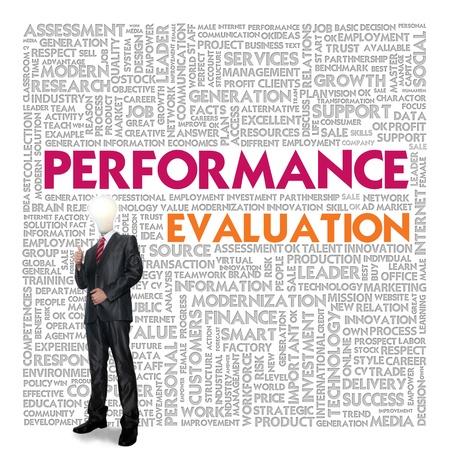 evaluacion: Negocios nube palabra para el concepto de negocio, el rendimiento