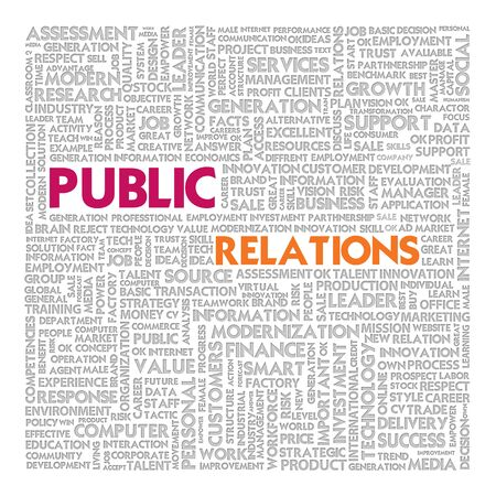 Business word cloud for business concept, Public relations photo