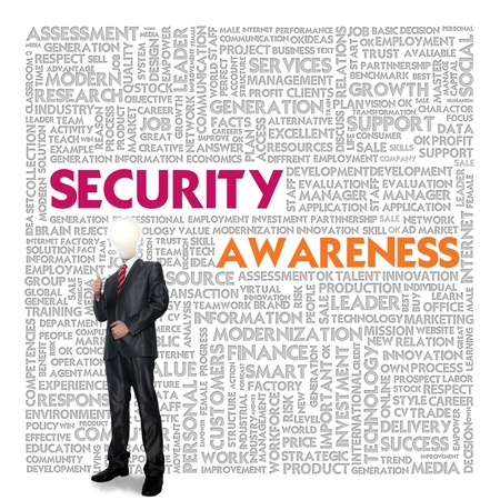 social security: Business word cloud for business concept, Security Awareness