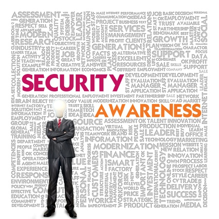 Business word cloud for business concept, Security Awareness photo