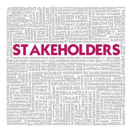stakeholders: Business word cloud for business concept, Stakeholders