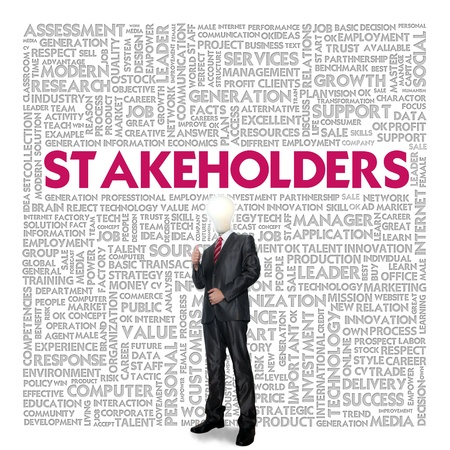 stakeholder: Business word cloud for business concept, Stakeholders