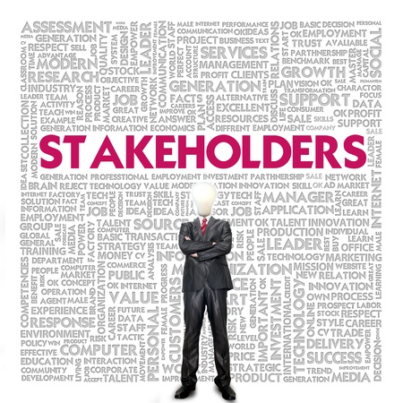 diverse business team: Business word cloud for business concept, Stakeholders