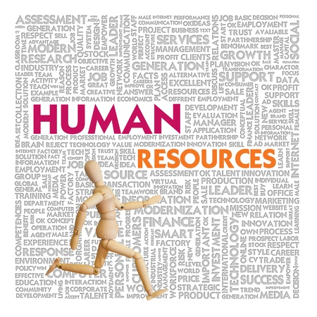 Business word cloud for business and finance concept, Human Resource photo