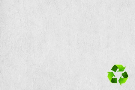 Recycle symbol on the Paper texture background photo