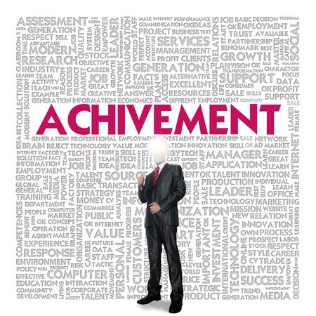 achivement: Business word cloud for business concept, Achivement