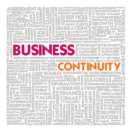 Business word cloud for business concept, Business continuity Stock Photo - 14107350