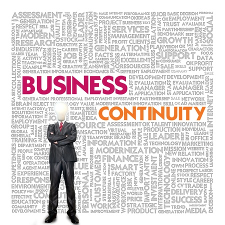 Business word cloud for business concept, Business continuity Stock Photo - 14107382