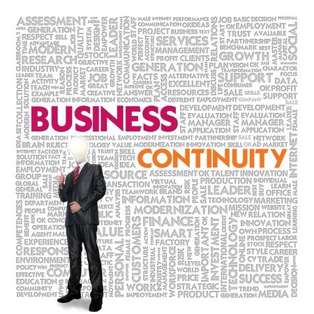 Affari nuvola parola concetto di business, business continuity Archivio Fotografico - 14107383
