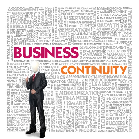Business word cloud for business concept, Business continuity photo