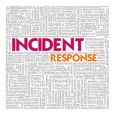 emergency plan: Business word cloud for business concept, Business continuity