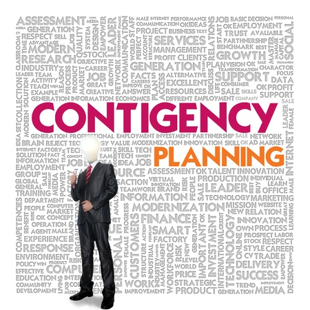 Business word cloud for business concept, Business continuity Stock Photo - 14107360