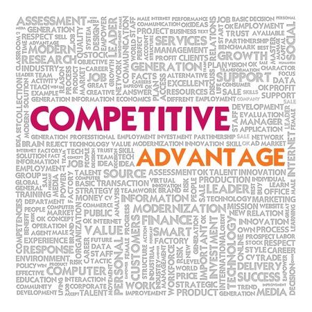 Business word cloud for business concept, competitive advantage photo
