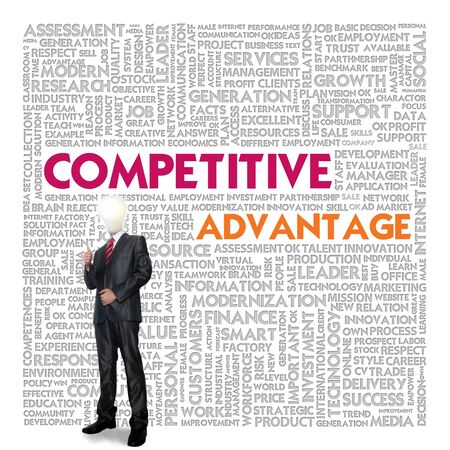 competitive business: Business word cloud for business concept, competitive advantage