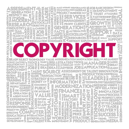 Business word cloud for business concept, Copyright photo