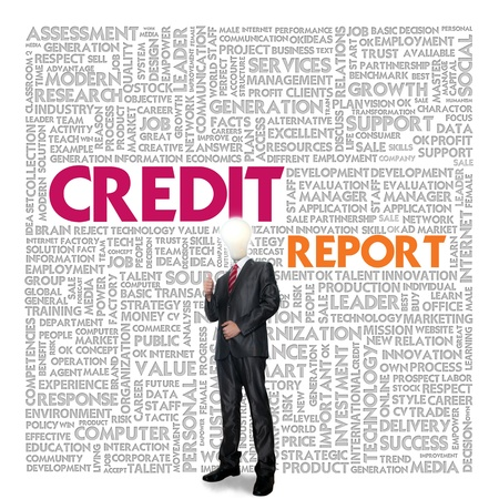 Business word cloud for business concept, Credit Report Stock Photo - 14107373