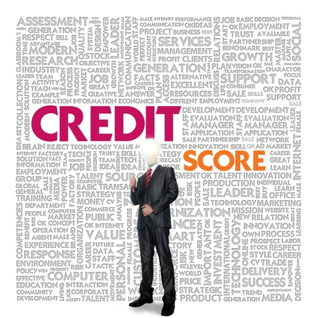 history background: Business word cloud for business concept, Credit Report Stock Photo