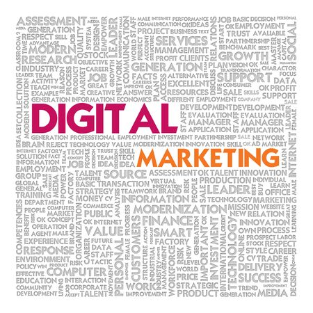 Business word cloud for business concept, Digital Marketing photo
