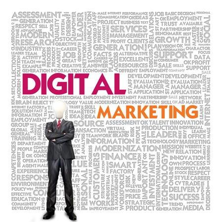 digital marketing: Business word cloud for business concept, Digital Marketing Stock Photo