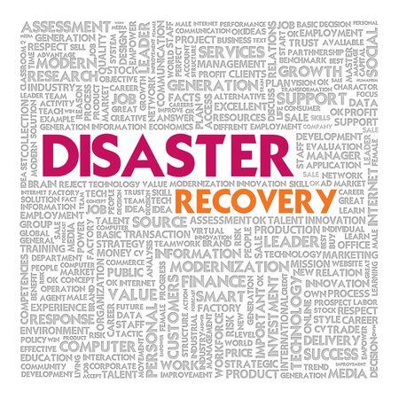 catastrophe: Nuage de mots d'affaires pour concept d'entreprise, la continuit� des activit�s