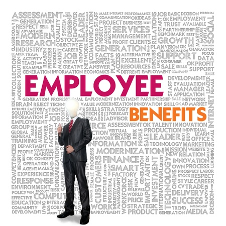 Business word cloud for business concept, Employee Benefit photo