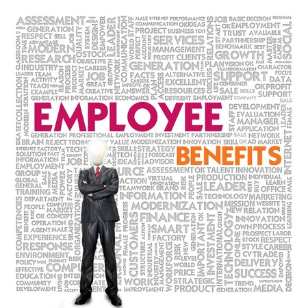 competency: Business word cloud for business concept, Employee Benefit