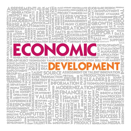 Business word cloud for business concept, Economic Development photo