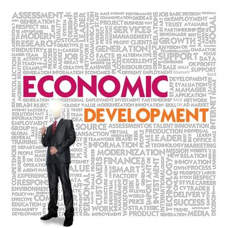 desarrollo económico: Empresas nube de palabras para el concepto de negocio, Desarrollo Económico