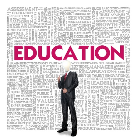 Business word cloud for business concept, Education photo