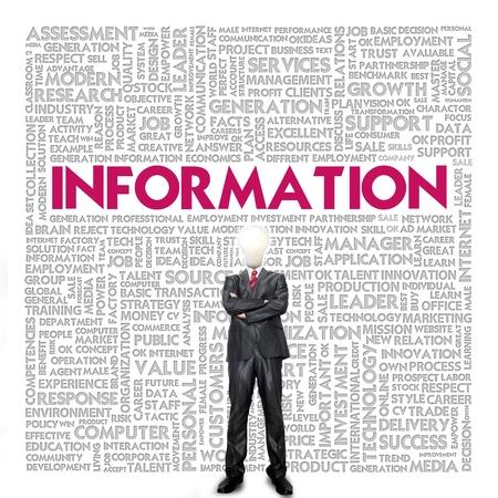 istruzione: Affari nuvola parola concetto di business, informazioni Archivio Fotografico