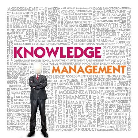 knowledge concept: Business word cloud for business concept, Knowledge Management