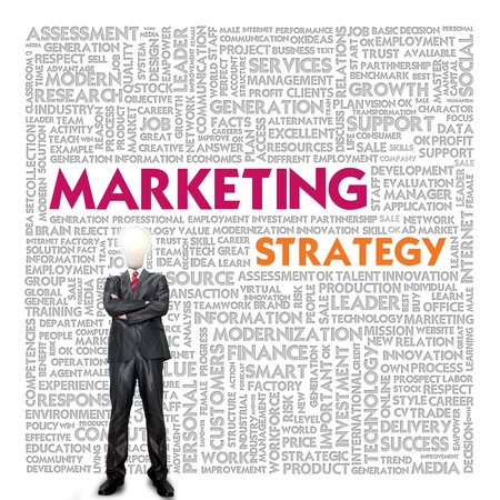 Business word cloud for business concept, Marketing Strategy photo