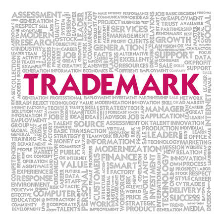 managed: Business word cloud for business concept, Trademark Stock Photo