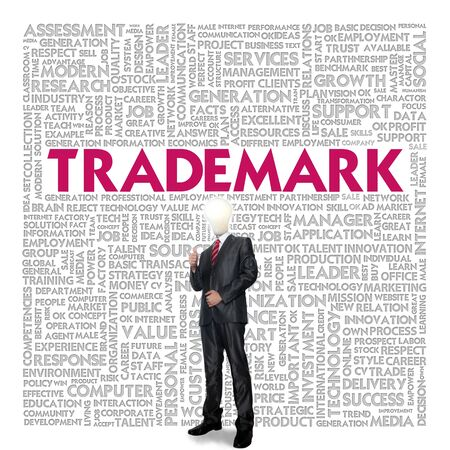 Business word cloud for business concept, Trademark Stock Photo - 14107468