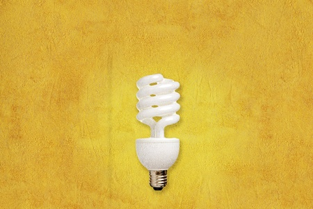 Bulb on Paper texture background photo